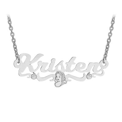 Disney Collection Personalized Snow White Name Necklace