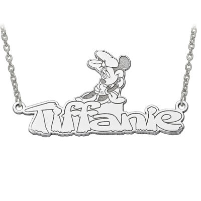 Disney Personalized Minnie Mouse 34x17mm Name Necklace
