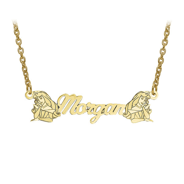 Disney Personalized Sleeping Beauty 8x32mm Name Necklace
