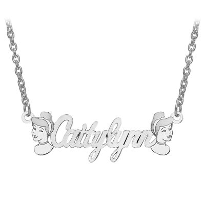 Disney Personalized Cinderella 10x30mm Name Necklace