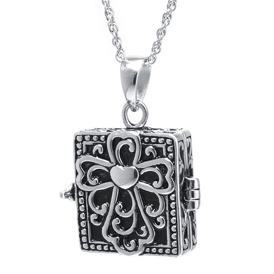 f7303a2a60ef3 Sterling Silver Vintage Square Cross Prayer Box Pendant Necklace - JCPenney