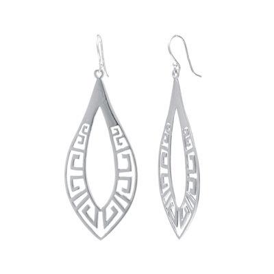 Sterling Silver Openwork Teardrop Earrings