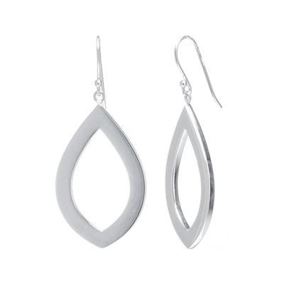 Sterling Silver Open Marquis Drop Earrings