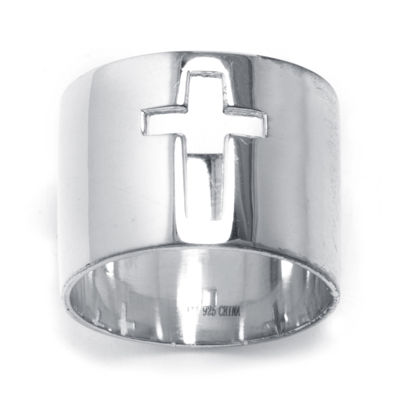 Sterling Silver Cutout Cross Ring