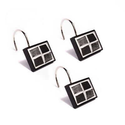 Popular Bath Mosaic Stone Shower Curtain Hooks