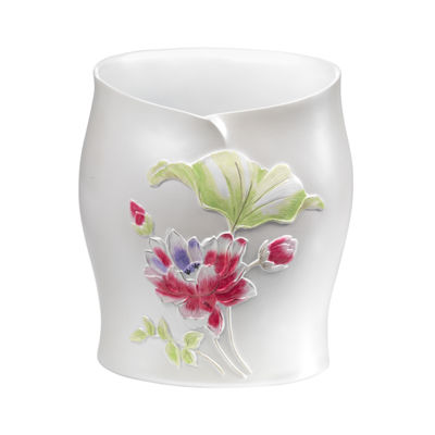 Popular Bath Flower Haven Waste Basket