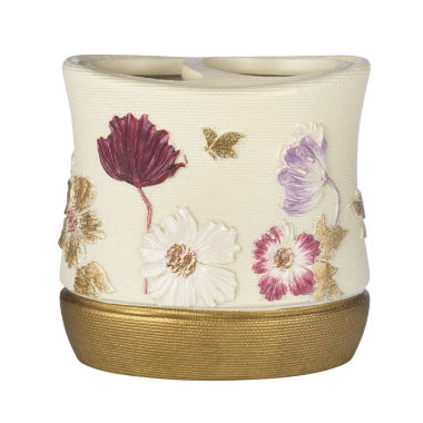 Popular Bath Dahlia Toothbrush Holder