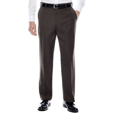 Stafford® Travel Flat-Front Sharkskin Dress Pants - Classic