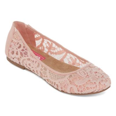 Pop Womens Helen Ballet Flats Slip-on Closed Toe