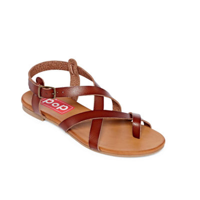 Pop Calley Womens Strap Sandals