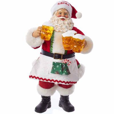 "Kurt Adler 10.75"" Fabriché™ Santa Serving Beer"