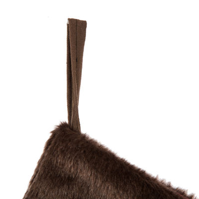 Glitzhome Faux Fur Cuff Knit Christmas Stocking
