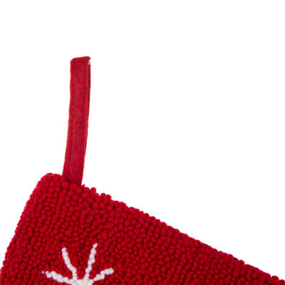 Glitzhome Reindeer Hooked Knit Christmas Stocking