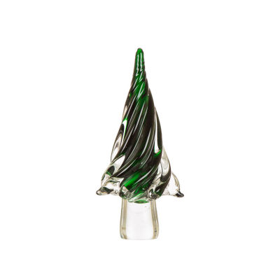 Glitzhome Large Glass Christmas Tree Tabletop Tree