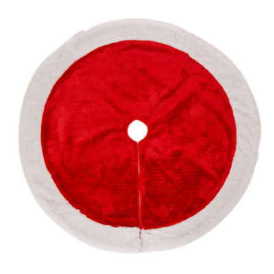 Glitzhome Plush Tree Skirt