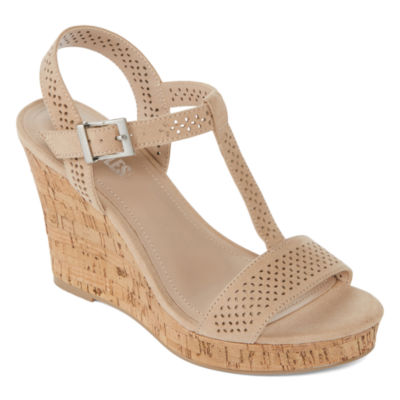 Style Charles Link Womens Wedge Sandals