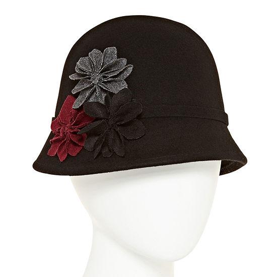 Scala Flower Cloche Hat