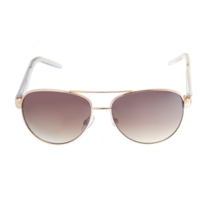 Nicole By Nicole Miller Full Frame Aviator UV Protection Sunglasses-Womens