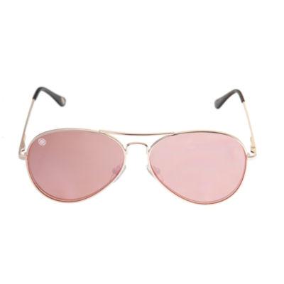 Nicole By Nicole Miller Full Frame Aviator UV Protection Sunglasses-Womens