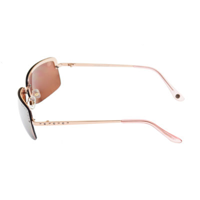 Nicole By Nicole Miller Rimless Rectangular UV Protection Sunglasses-Womens