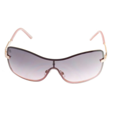 Nicole By Nicole Miller Rimless Shield UV Protection Sunglasses-Womens
