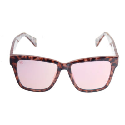 Nicole By Nicole Miller Full Frame Square UV Protection Sunglasses-Womens