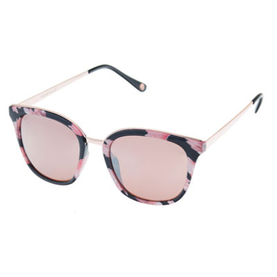 Nicole By Nicole Miller Full Frame Round UV Protection Sunglasses-Womens