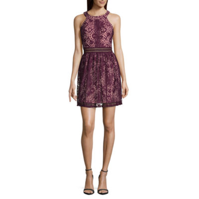 Byer California Sleeveless Fit & Flare Dress-Juniors