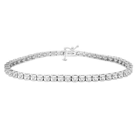 1 CT. T.W. Genuine Diamond 14K Gold Tennis Bracelet