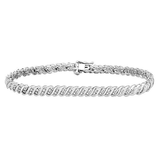 1 CT. T.W. Genuine Diamond 10K Gold Tennis Bracelet