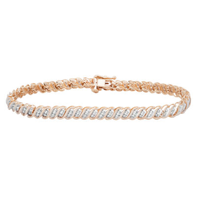 Womens 1 CT. T.W. Diamond 10K Gold Tennis Bracelet
