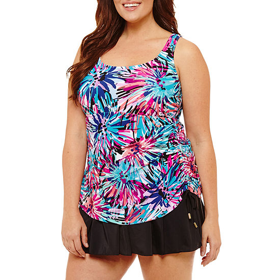 eef0bf7dad2cd Azul by Maxine of Hollywood Swim Dress Plus JCPenney