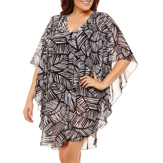 Azul by Maxine of Hollywood Swimsuit Cover-Up Dress-Plus
