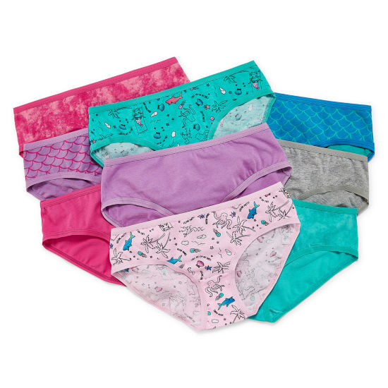 Arizona 9 Pair Hipster Panty Girls Plus