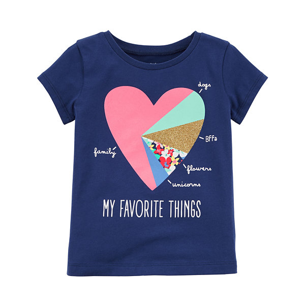Carter's Graphic Short Sleeve T-Shirt-Toddler Girls 2T-5T