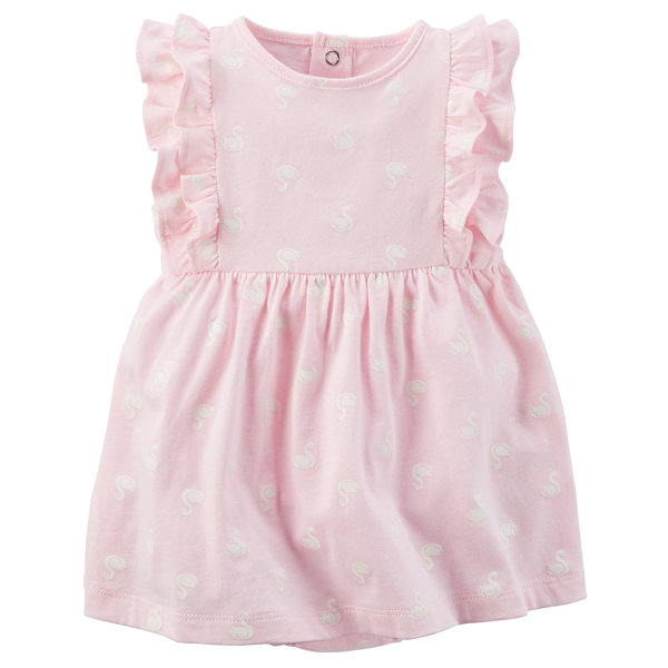 Carter s Sleeveless Flutter Sleeve Dress Set Baby Girls