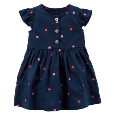 Carter's Flutter Sleeve Heart Print Dress - Baby Girl NB-24M
