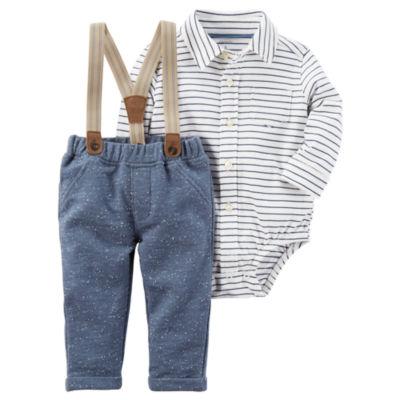 Carter's 3-pc. Suspender Pant Set Baby Boys