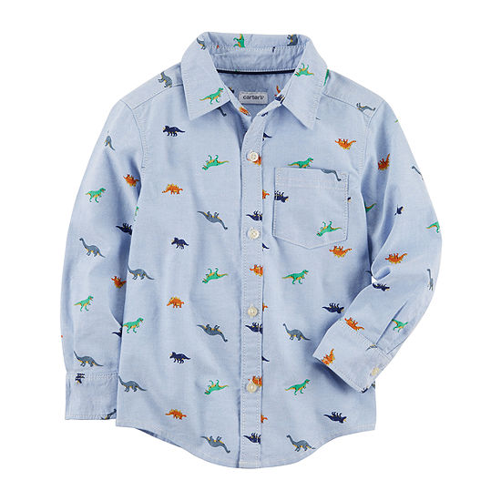 Carter's Boys Long Sleeve Button-Front Shirt Baby