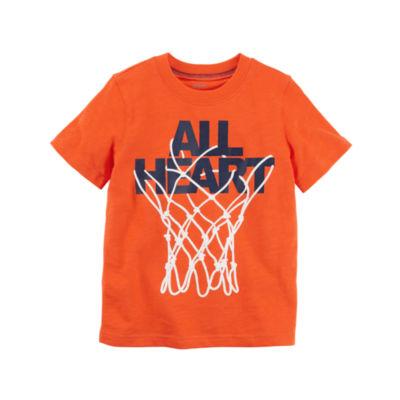 Carter's Short Sleeve Graphic T-Shirt-Toddler Boys 2T-5T