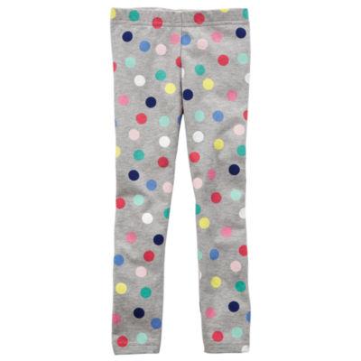 Carter's Dots Knit Leggings - Toddler Girls