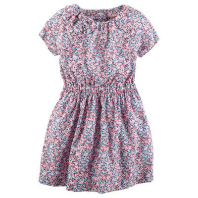 Carter's Short Sleeve Fit & Flare Dress - Preschool Girls