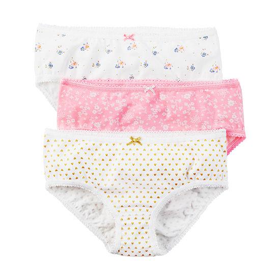Carter's 3 Pair Brief Panty Toddler Girls