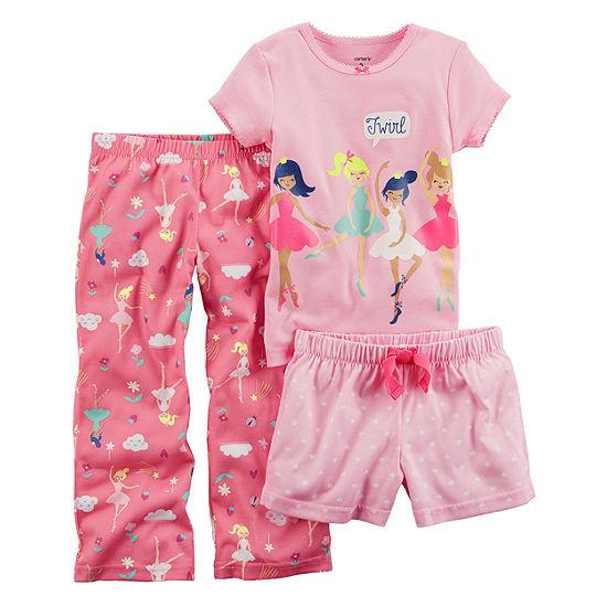 Carter's 3-pc. Pajama Set Baby Girls