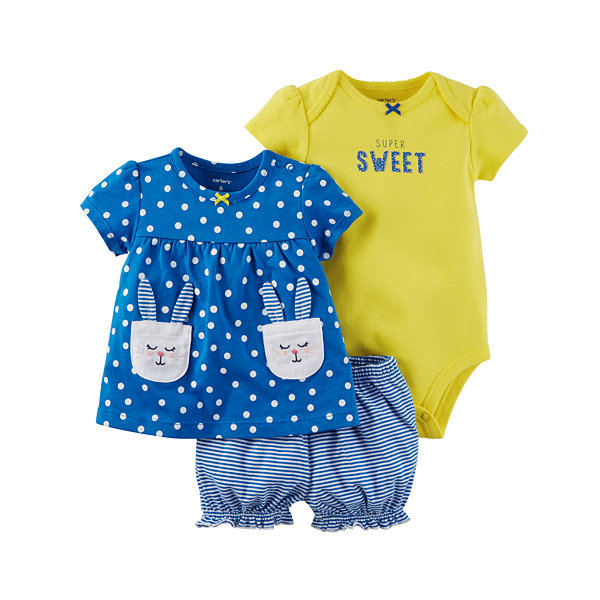 Carter's 3-pc. Short Set Baby Girls