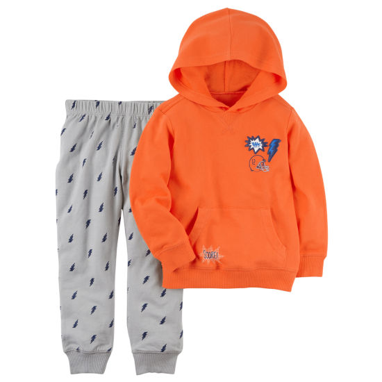 Carter's Hooded Sweatshirt & Pant Set - Toddler Boys 2T-5T