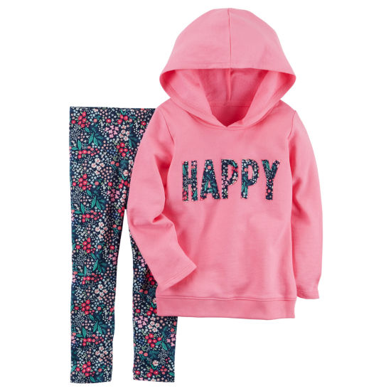 Carter's Hoodie & Floral Legging 2 Piece Set - Toddler Girls 2T-5T