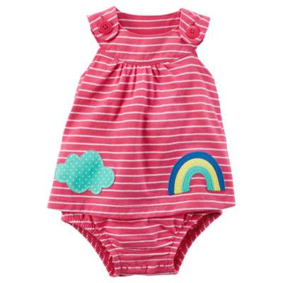 Carter's Rainbow Stripe Sunsuit Bodysuit - Baby Girl NB-24M