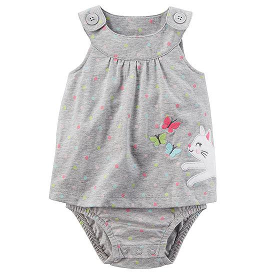 Carter's Sunsuit Girls Bodysuit-Baby