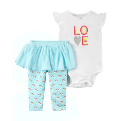 Carter's Rainbow Love Bodysuit & Tutu Legging 2 Piece Set - Baby Girl NB-24M